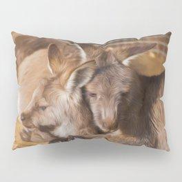 Cuddling Kangaroos  (digital painting) Pillow Sham