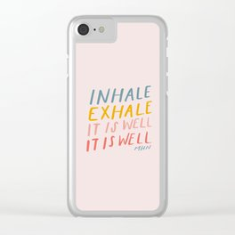 It Is Well Clear iPhone Case