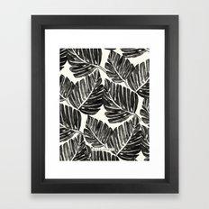 Jungle Leaves - Black Framed Art Print