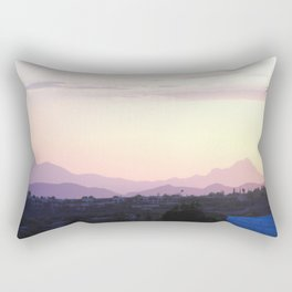 Carboard Mountains at Sundown #2, Tucson, Arizona Rectangular Pillow