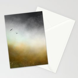 Mist, moorland, crows Stationery Cards