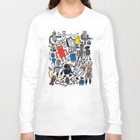 robots Long Sleeve T-shirts featuring ROBOTS! by Chris Piascik