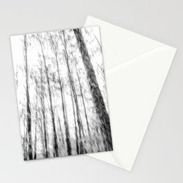 Black and white tree photography - Watercolor series #3 Stationery Cards