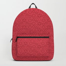 Red dice pattern Backpack