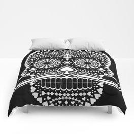 Black Skull  White Suits Comforters
