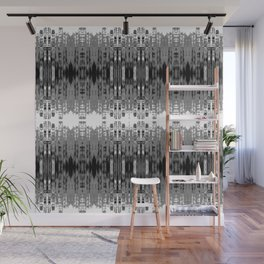Laced rows of abstract city skyline Wall Mural