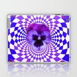 OPTICAL LILAC  PURPLE PANSIES GEOMETRIC ART Laptop & iPad Skin