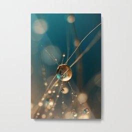 Cactus Starlite Drops Metal Print