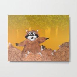 Raccoon Series: Come Look! Metal Print