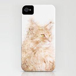 Cat Watercolor iPhone Case