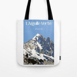 L'Aiguille Verte - France Tote Bag