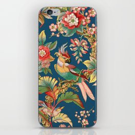 Antique French Chinoiserie in Blue iPhone Skin