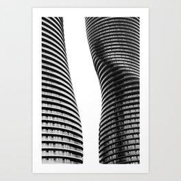 Curve Twins   Architecture   CityLandscape   City Photography   Minimalist   B&W Art Print