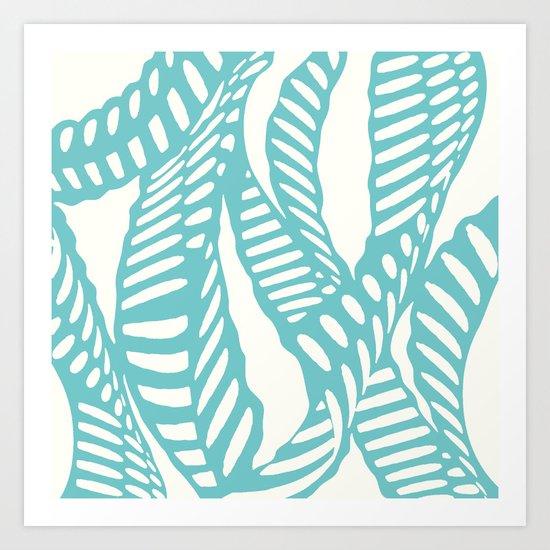 Al Peas: Aquamarine Ivory Art Print
