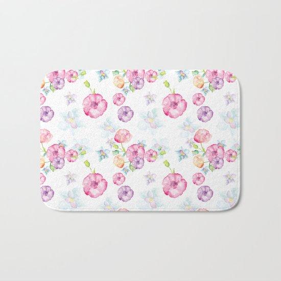 Delicate Floral Pattern 01 Bath Mat