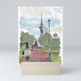 Sky Tower, Aotea Square, Auckland, New Zealand Mini Art Print