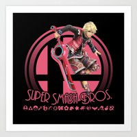 super smash bros Art Prints featuring Shulk - Super Smash Bros. by Donkey Inferno