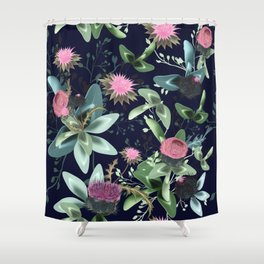Fashion textile floral vector pattern with clover and field flowers Shower Curtain