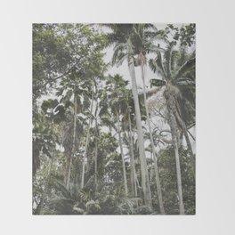 In the Tropical Jungle - Hawaii Throw Blanket