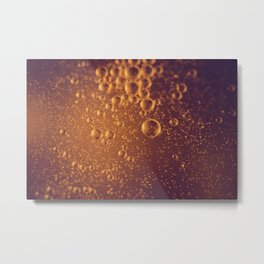 Oiled Bubbles Metal Print