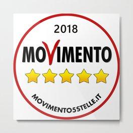 2018 Five Star Movement's Loo Metal Print