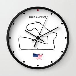 Road America Circuit Wall Clock
