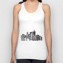City Landscape monochromatic Unisex Tank Top