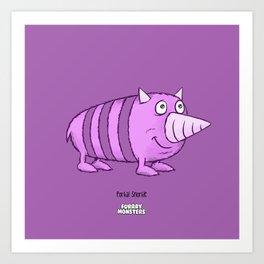 Porkal Snorkle Art Print
