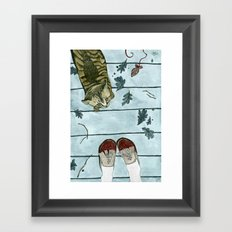 Let's play: Cat Framed Art Print