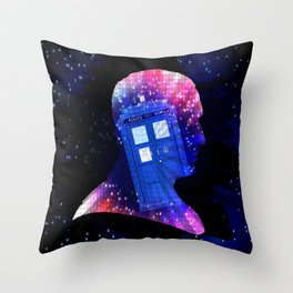 The Ninth Doctor Silhouette  Throw Pillow