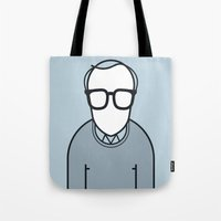 woody Tote Bags featuring Woody by Ale Giorgini