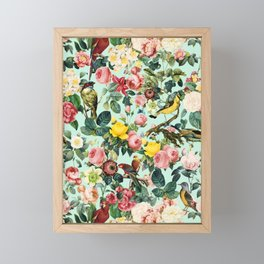 Floral and Birds III Framed Mini Art Print