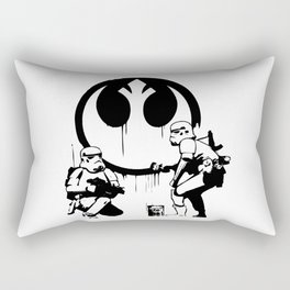 Banksy Troopers Rectangular Pillow