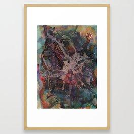 Paint splatter abstract Framed Art Print