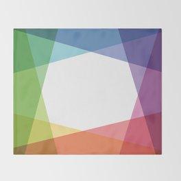 Fig. 001 Rainbow color Throw Blanket