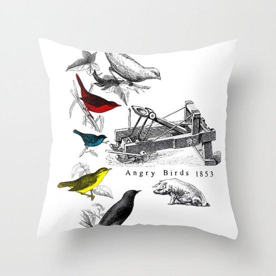 Etude - Angry Birds Throw Pillow