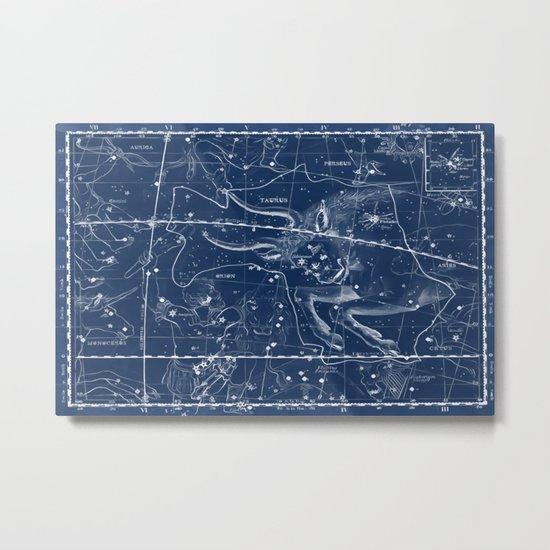 Taurus sky star map Metal Print
