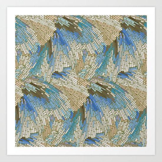 Abstract Sea Shells Art Print