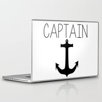 captain silva Laptop & iPad Skins featuring Captain by Nicolekay