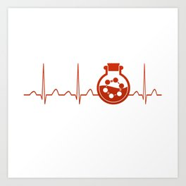 Biochemist Heartbeat Art Print