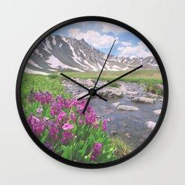 Above the tree line, in the tundra above Breckenridge, Colorado Wall Clock