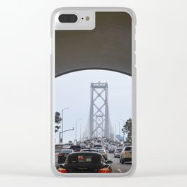 San Francisco Bay Bridge as seen from inside tunnel Clear iPhone Case