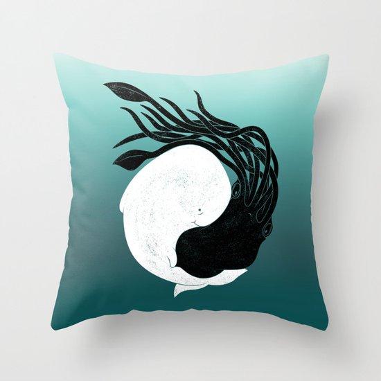 Sea Frenemies Throw Pillow