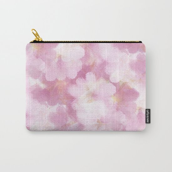 Painted Flowers Abstract Carry-All Pouch