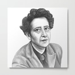 Hannah Arendt Metal Print