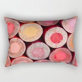 Color Pencils Rectangular Pillow