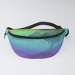 Yellowstone Wolves in the Mist Fanny Pack