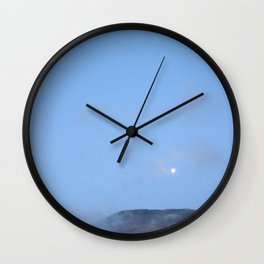 moonlight mountains Wall Clock