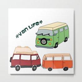 Van Life Camping Traveling Art Metal Print