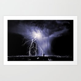 Lightning and Rain Funnel Art Print
